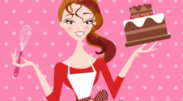 Картинки карикатуры девушка торт