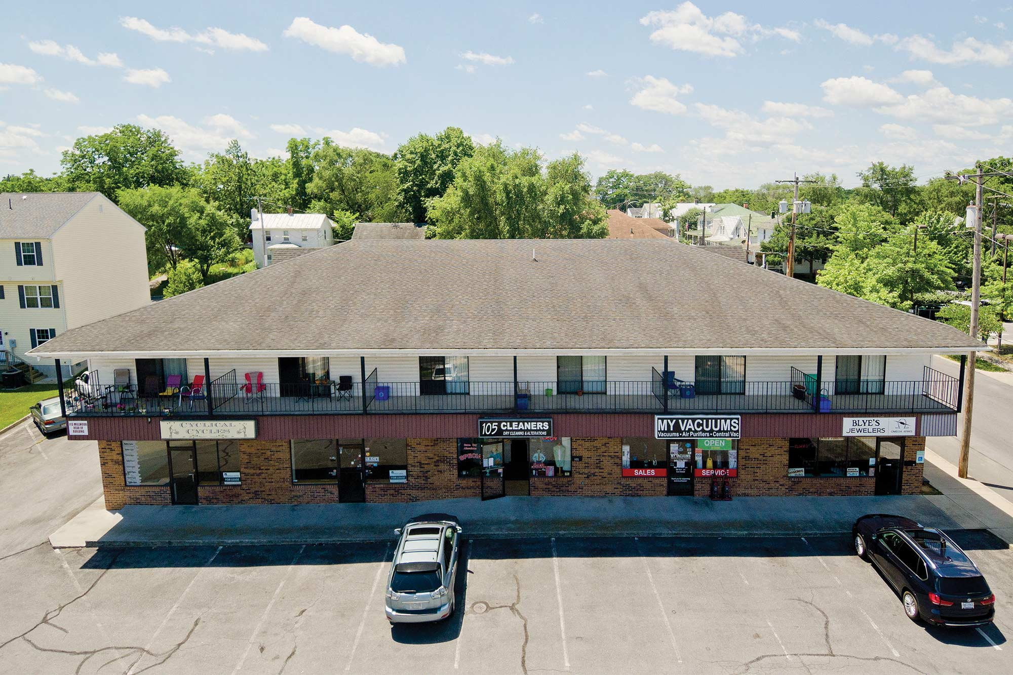 Millwood Avenue commercial leasing aerial 2