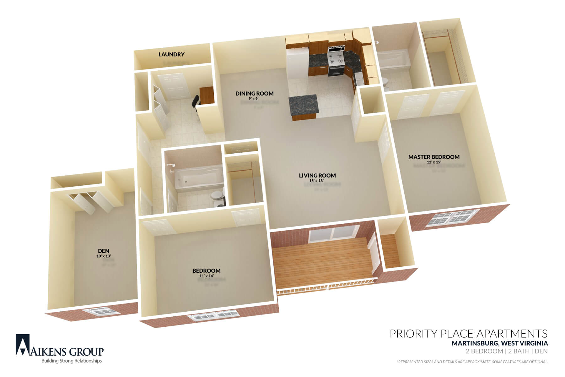 Priority Place Apartments Floor plan - Martinsburg, WV
